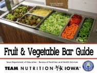 Bureau of Nutrition and Health Services - Iowa Department of ...