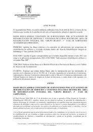 BASES CONCESION SUBVENCIONES - Ayuntamiento de Sabiñánigo