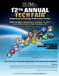 application for exhibitors + sponsors + advertisers - MLSLI.com