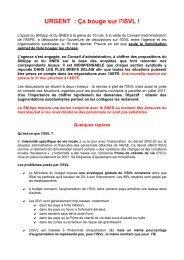 URGENT : Ça bouge sur l'ISVL ! - SNUipp
