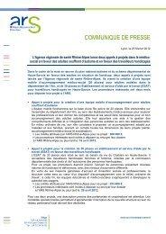 Lire le communiqué - ARS Rhône-Alpes