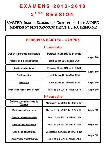 Master 1 droit du patrimoine [PDF - 49 Ko ]