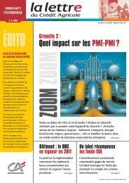 Quel impact sur les PME-PMI ? - Crédit Agricole Toulouse 31