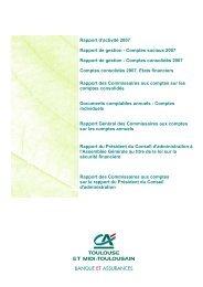 Rapport de gestion et éléments financiers 2007 - Crédit Agricole ...