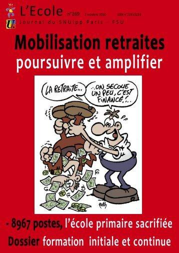 Maquette 20 pages couleurs - SNUipp-FSU Paris