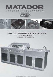 OUTDOOR ENTERTAINER - Matador BBQs