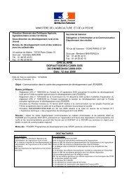 circulaire DGPAAT/SDDRC/C2009-3055 du - Ministère de l'Agriculture