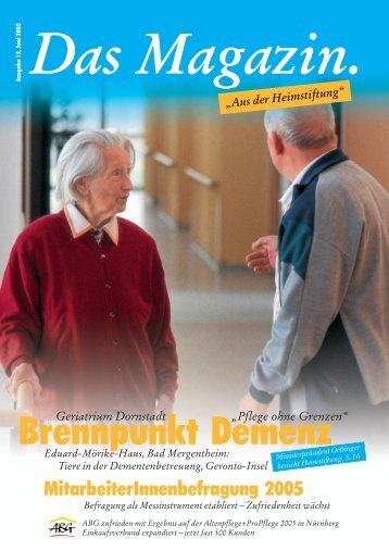 Das Magazin 1/2005 - Evangelische Heimstiftung