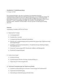 Checkliste für CT-Notfall-Kooperationen U. Cramer, M. Walz Eine ...