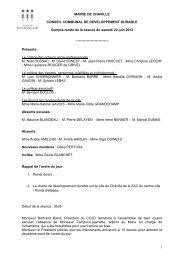 MAIRIE DE CHAVILLE CONSEIL COMMUNAL ... - Ville de Chaville