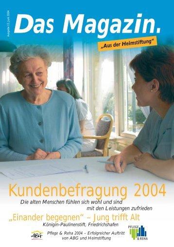 Das Magazin 1/2004 - Evangelische Heimstiftung