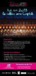 Toulouse 2013 Les étapes de la candidature : - Crédit Agricole ...