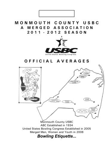 2012 MC Yearbook - Monmouth County USBC Bowling Association