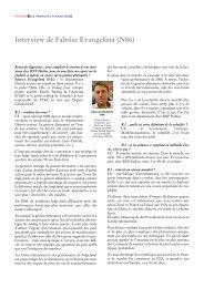 Interview de Fabrice Evangelista