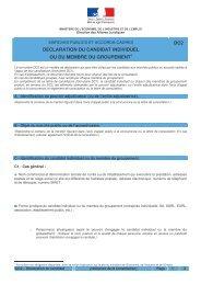 DECLARATION DU CANDIDAT INDIVIDUEL OU ... - Ville de Chaville
