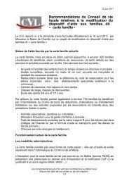 Projet Avis du CVL Carte famille - 080611.doc ... - Ville de Chaville