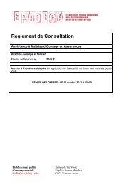 Règlement de Consultation - Epadesa