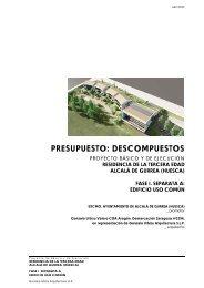 presupuesto: descompuestos - Ayuntamiento de Alcalá de Gurrea ...