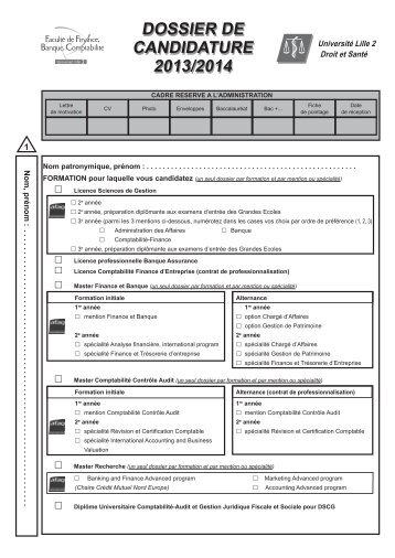 dossier de candidature 2013/2014 dossier de candidature 2013/2014