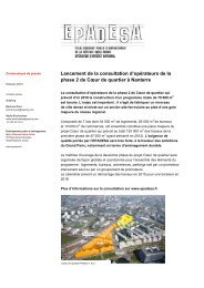 Lancement de la consultation d'opérateurs de la phase 2 ... - Epadesa