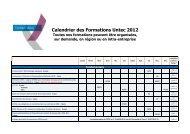 Calendrier 2012 - Untec
