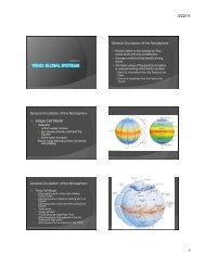 General Circulation of the Atmosphere General Circulation of the ...
