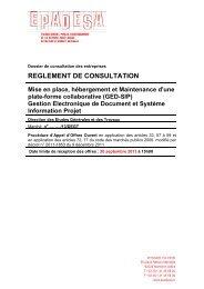 MARCHE PUBLIC DE TRAVAUX - Epadesa