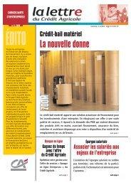 Lettre Entreprise n. 4/06 - Crédit Agricole Toulouse 31