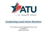 Conducting Local Union Elections - Amalgamated Transit Union