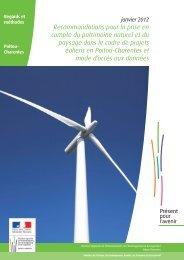 plaquette janvier 2012 - DREAL Poitou-Charentes