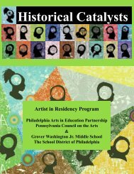 Historical Catalysts - Philadelphia Arts In Education Partnership