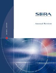 Annual Review 2008 - SERA