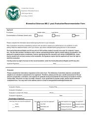 Evaluation Form - Colorado State University
