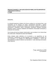 PROYECTO BASICO Y DE EJECUCIÓN DE PABELLON ...