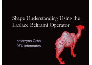 Shape Understanding Using the Laplace Beltrami ... - Visionday