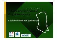 P.I.G Cohésion sociale des Deux-Sèvres - DREAL Poitou-Charentes
