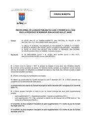Procès-verbal du CM du 13 février 2012 - Ville de Chaville