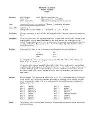 Phys 371 Electronics - Concordia University Nebraska