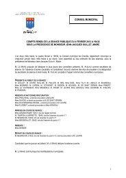 Compte rendu du Conseil municipal du 4 février ... - Ville de Chaville