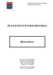 plan d'occupation des sols reglement - Ville de Chaville
