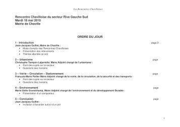 Circulation- Stationnement avec François-Marie ... - Ville de Chaville