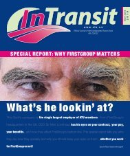 What's he lookin' at? - Amalgamated Transit Union