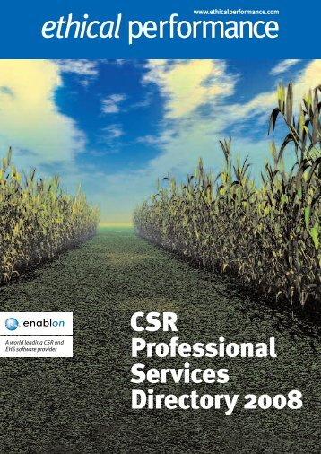 CSR Professional Services Directory 2008 ethicalperformance