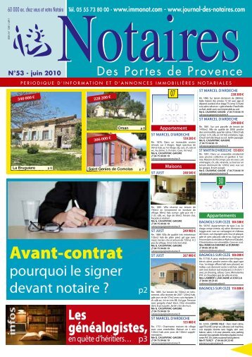 Notaires Des Portes de Provence - Le Journal des Notaires