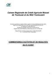 Etats financiers consolidés - Exercice 2007 - Crédit Agricole ...