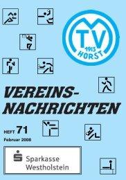 Shirts inkl. Vereinsnamen - MTV Horst von 1913 eV