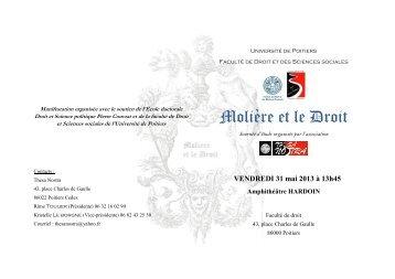 Molière et le Droit - UFR Droit et Sciences Sociales - Université de ...
