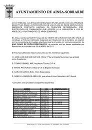 informe de secretaria - Ayuntamiento de Aínsa Sede Electrónica