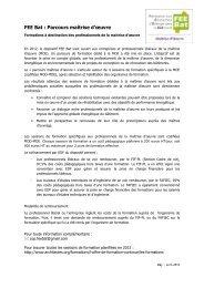 Télécharger les programmes de ces formations - UNTEC