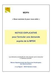 MDPH NOTICE EXPLICATIVE pour formuler une ... - Ville de Chaville